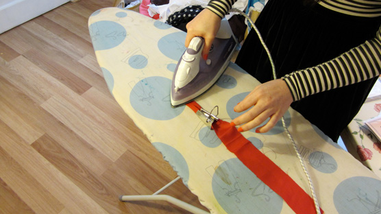 It's not often you'll catch me ironing!
