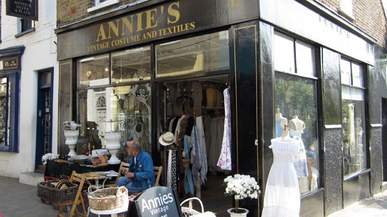 Annie's Vintage Clothes and Textiles, Camden Passage, Islington, London