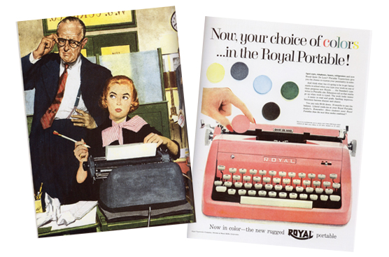 Typewriter advertisements from the 1950s