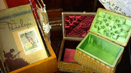 Lovely selection of vintage sewing baskets