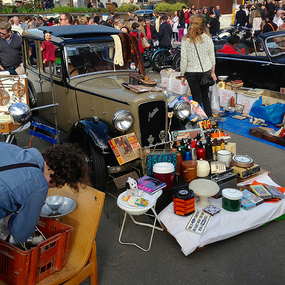 A vintage Austin full of fun vintage finds.