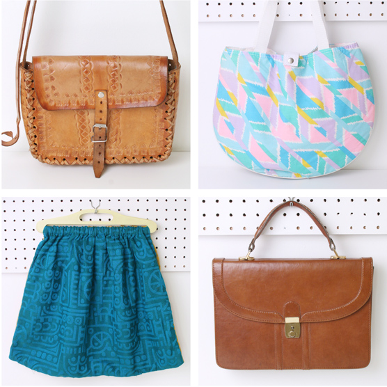 A pretty selection of vintage bags.