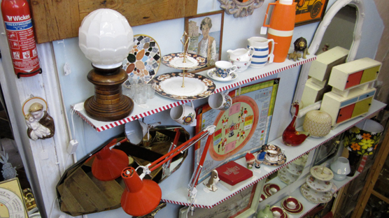 Climb the stairs to fun vintage heaven in North Laines Antiques & Flea Market.