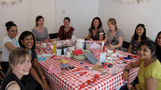 The lovely bunch of gals at Studio 106 for an afternoon of printing fun.