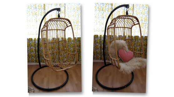 1960s 1970s Wicker Hanging Chair For Sale Thrift Ola