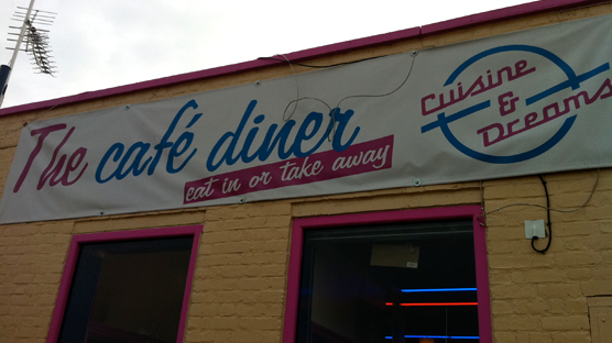 An onsite diner to have breakfast and show'n'tell your finds.