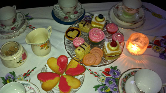 Our table of tea time treats.