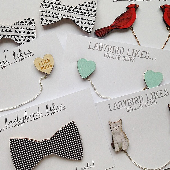 Super cute handmade jewellery featuring bows and cats.