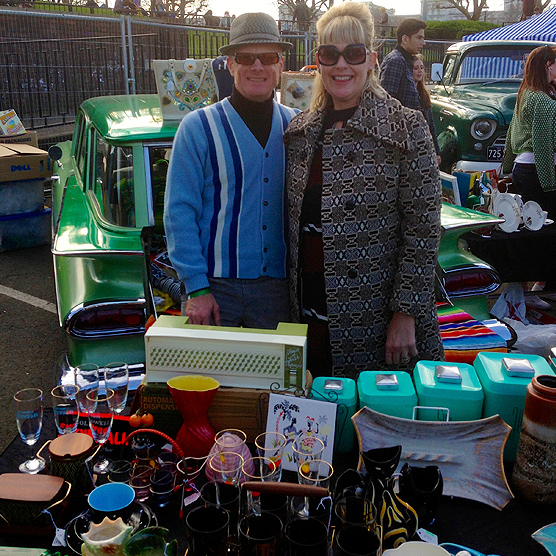 My favourite stand; Dave, Sue & their Chevy Parkwood.