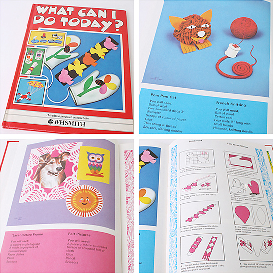 What can I do today? Awesome 1980s craft book.