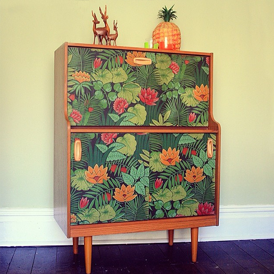 Rescued furniture, up cycled with a witty sense of style.